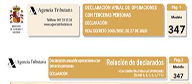 Declaración anual de más de 3.005,06 €, comprobar los datos.