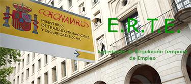 CORONAVIRUS: Afrontar su efecto en el área laboral, ERTE.