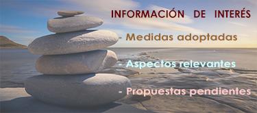 INFORMACIÓN DE INTERÉS: Medidas adoptadas y propuestas.